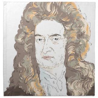 Sir Isaac Newton Napkin