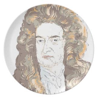 Sir Isaac Newton Plate
