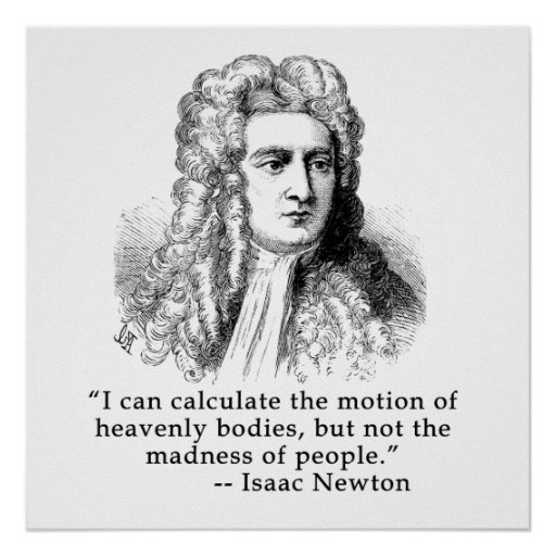 Sir Isaac Newton Portrait and Quote Poster