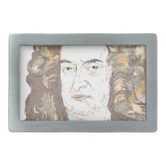 Sir Isaac Newton Rectangular Belt Buckle