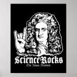 Sir Isaac Newton Science Rocks Posters