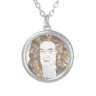 Sir Isaac Newton Silver Plated Necklace