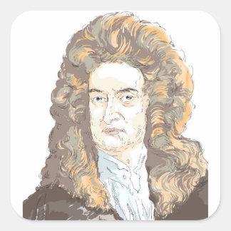 Sir Isaac Newton Square Sticker