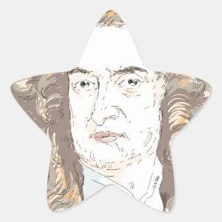 Sir Isaac Newton Star Sticker