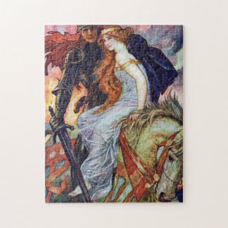 Sir Lancelot and Guinevere by Henry Ford Jigsaw Puzzle