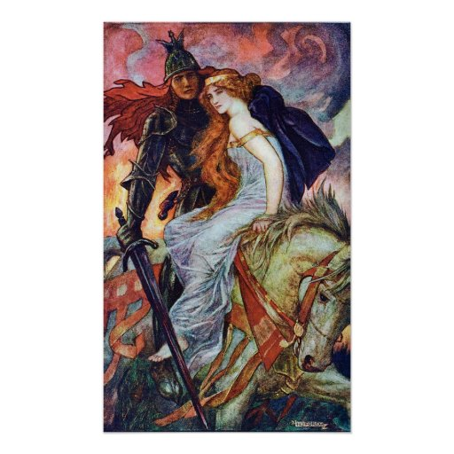 Sir Lancelot and Guinevere by Henry Ford Poster