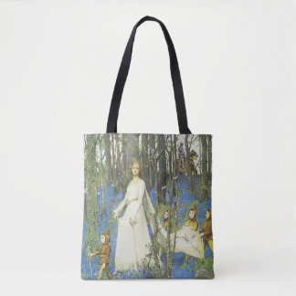 Sir Lancelot Guinevere Painting Tote Bag