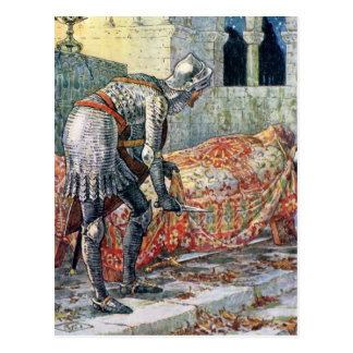 Sir Lancelot in the Chapel Perilous Postcard