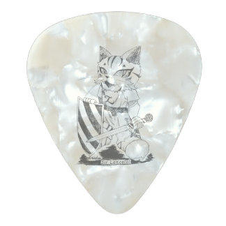 "Sir Lancelot ""Troupe Camelot"" (lance lot Pearl Celluloid Guitar Pick"