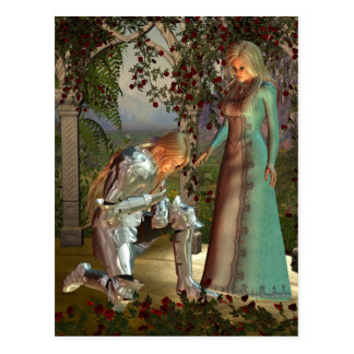 Sir Launcelot and Queen Guinevere Postcard