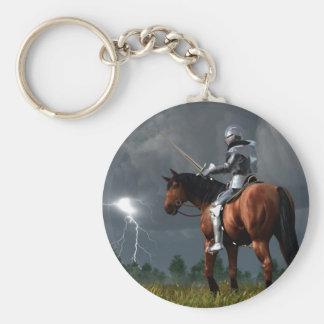 Sir Lightning Rod Basic Round Button Keychain