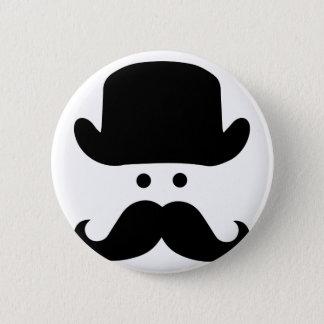Sir Moustache 2 Inch Round Button