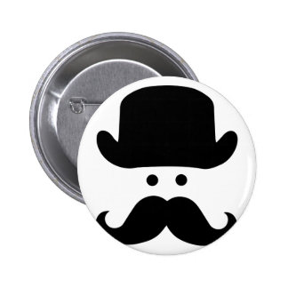 Sir Moustache 2 Inch Round Button