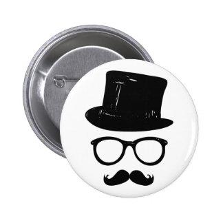 Sir Mustache 2 Inch Round Button