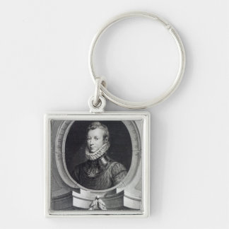 Sir Philip Sidney Silver-Colored Square Keychain