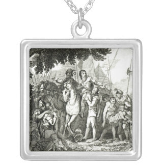 Sir Philip Sidney's Kindness to a Soldier, 1815 Silver Plated Necklace