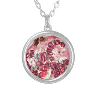 Sir Pomegranate Silver Plated Necklace
