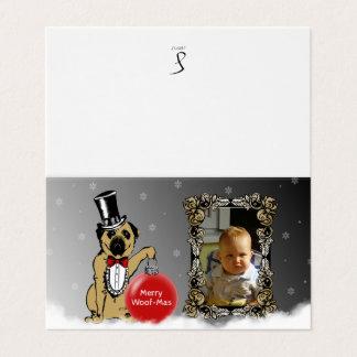 Sir Pug Dog sends your Christmas wishes! Card