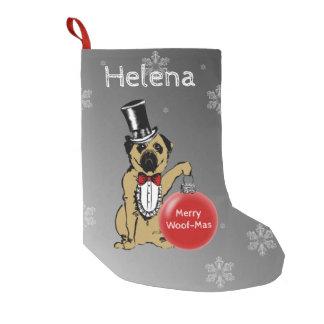 Sir Pug Dog shows your Christmas wishes! Small Christmas Stocking