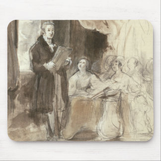 Sir Robert Peel Reading to Queen Victoria Mouse Pad