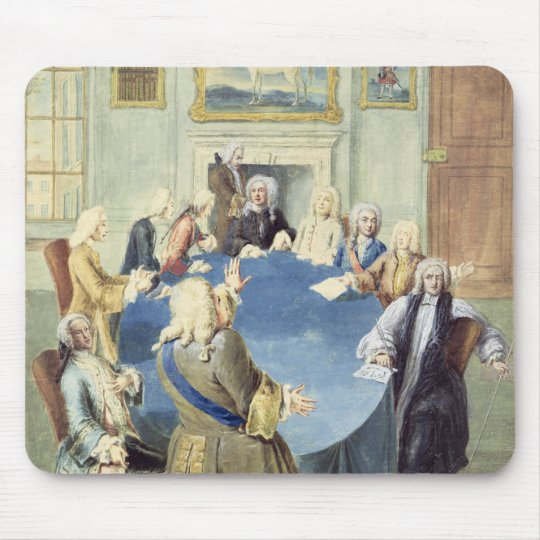 Sir Robert Walpole addressing his cabinet Mouse Pad