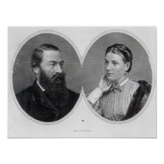 Sir Samuel and Lady Florence Baker, 1866 Poster