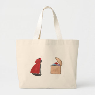 Sir Squeaker of Kittenton Is Victorious Large Tote Bag