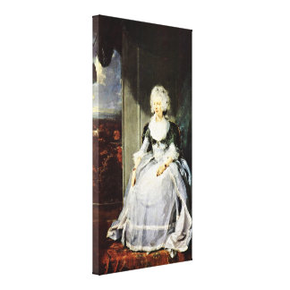 Sir Thomas Lawrence - Queen Charlotte(portrait) Canvas Print
