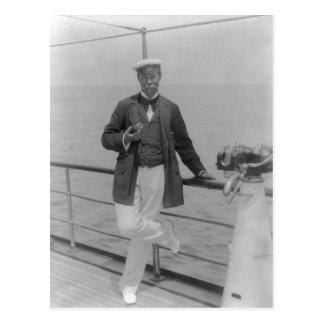 Sir Thomas Lipton at his yacht Postcard