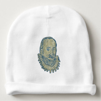 Sir Walter Raleigh Bust Drawing Baby Beanie