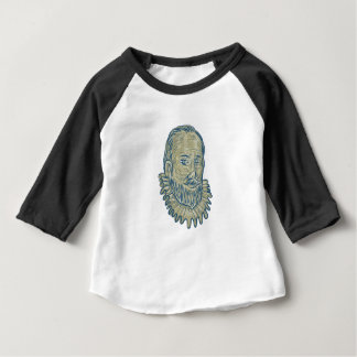 Sir Walter Raleigh Bust Drawing Baby T-Shirt