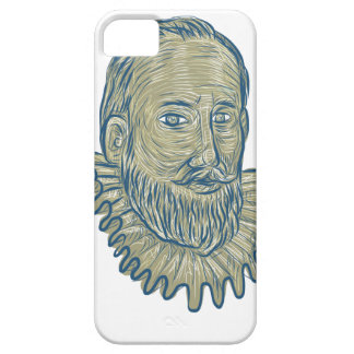 Sir Walter Raleigh Bust Drawing iPhone 5 Case