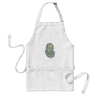 Sir Walter Raleigh Bust Drawing Standard Apron