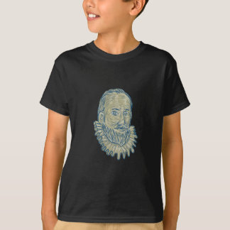 Sir Walter Raleigh Bust Drawing T-Shirt