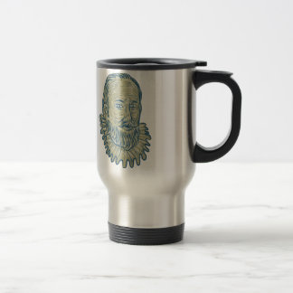 Sir Walter Raleigh Bust Drawing Travel Mug