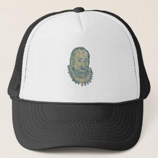 Sir Walter Raleigh Bust Drawing Trucker Hat