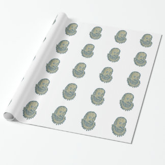 Sir Walter Raleigh Bust Drawing Wrapping Paper