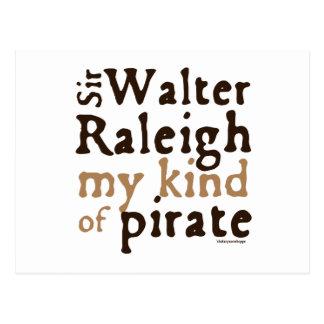 Sir Walter Raleigh: My Kind of Pirate Postcard