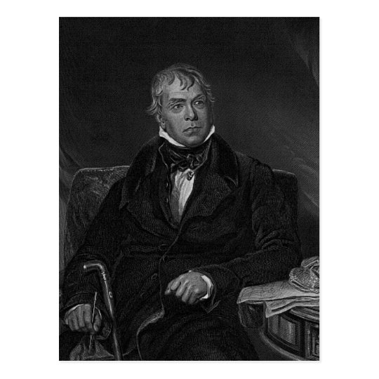 Sir Walter Scott Postcard