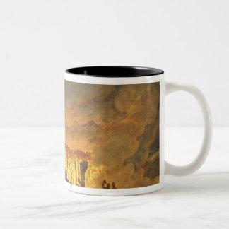 Sir William Hamilton  showing Ferdinand IV Two-Tone Coffee Mug