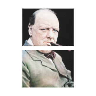 Sir Winston Churchill Canvas Print