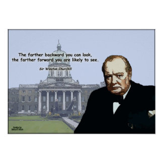 Sir Winston Churchill - Inspirational Posers Poster