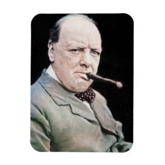 Sir Winston Churchill Rectangular Photo Magnet