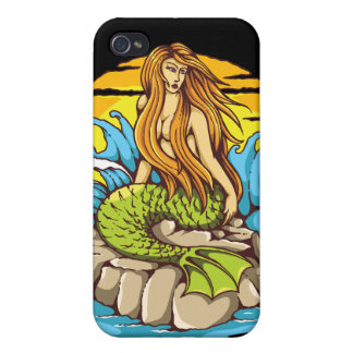 Sirène d'île avec l'art tribal de style de coque iPhone 4/4S