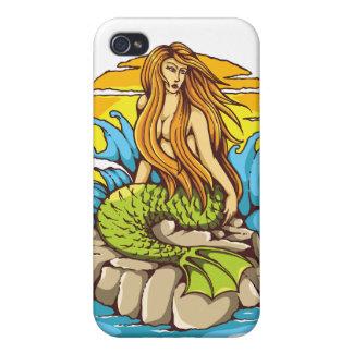 Sirène d'île avec l'art tribal de style de coques iPhone 4