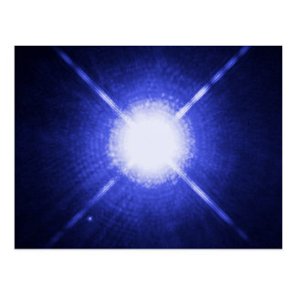 Sirius A and B bright night stars Postcard