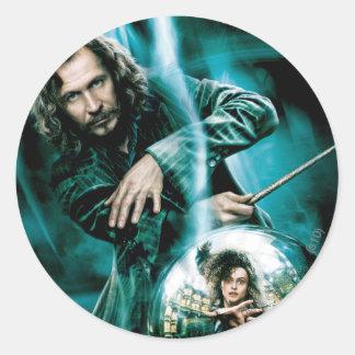 Sirius Black and Bellatrix Lestrange Round Stickers