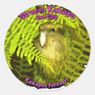 Sirocco in the Ferns Classic Round Sticker