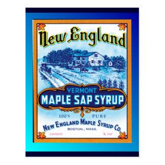 Sirop d'érable de la Nouvelle Angleterre Vermont Carte Postale