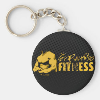 SirRahPro Fitness Black / Gold Keychain